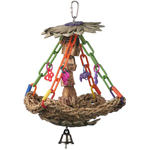 SB1091 Tree House Bird Swing Toy